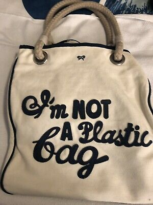 83d032ec79ad ANYA HINDMARCH - I m NOT A Plastic Bag - UK Edition   FREE SHIPPING ...