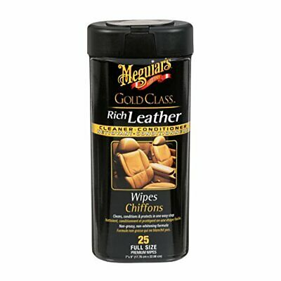 Meguiar's G10900C Gold Class Rich Leather Cleaner and Conditioner Wipes (25-Wipe