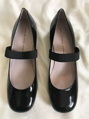 44ad003077f Marc By Marc Jacobs Mary Jane Heels Black Patent Size 7.5 Dress Shoes NIB
