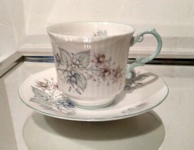 Queen's Fine Bone China CUP AND SAUCER Rosina Flowers