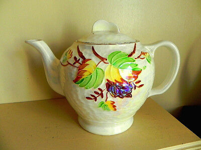 """Maling """"Autumn Leaves"""" Lustrewear Teapot Made for Ringtons 1950's"""