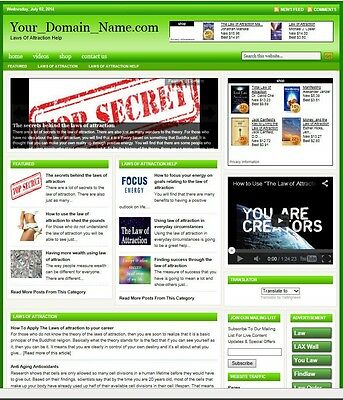 Law Of Attraction Blog Website Business For Sale! With Targeted Seo Content