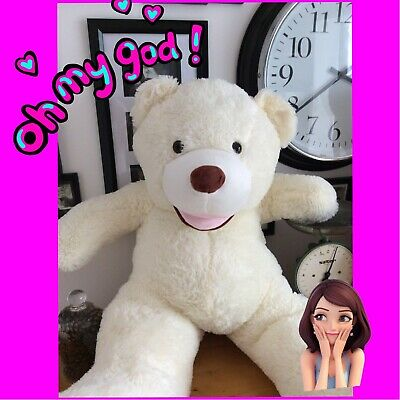 Easter Gift White Cream Extra Large Teddy Bear 120 cm Giant Big XL Soft Toy