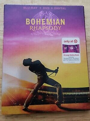 Bohemian Rhapsody NEW QUEEN Target Exclusive Blu-ray/DVD/Digit 24pg Gallery Book
