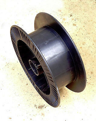 Heavy Duty Empty Cable Drum (Black ABS Plastic) for Cars, Lights, Cables, Wire