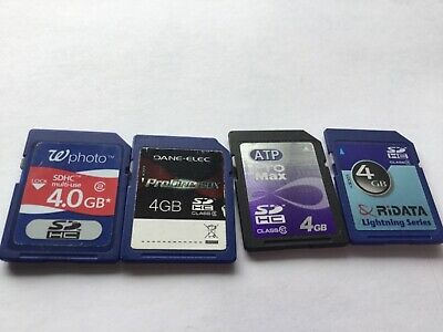 Lot of 4pcs 4gb Mixed brands SDHC Memory Card for SDHC Nikon canon cameras