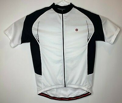 Bontrager Men Size XL Shell Zip Up Lightweight Cycling Jersey Shirt White  Red cb986874f