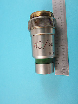 Vickers Angleterre UK Microscope Objective 40x Optiques Pièce