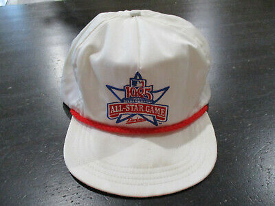on sale 399b9 a3307 VINTAGE Minnesota Twins All Star Game Snap Back Hat Cap White 1985 Baseball  80s