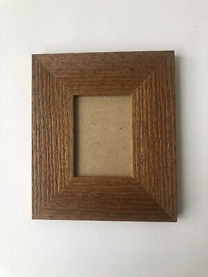 NEW Quality wooden ACEO Art/sports card 3.5 x 2.5 Brown frame