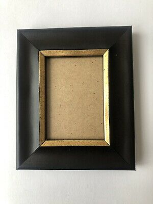 NEW Quality wooden ACEO Art card 3.5 x 2.5 black/gold picture frame