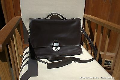 Leather Cross Body Messenger Bag Laptop Satchel