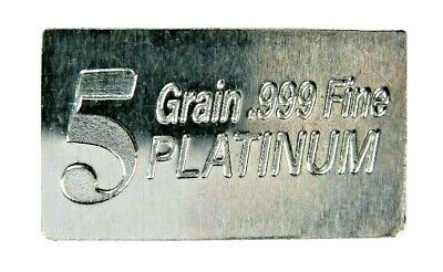 1/3 Gram .999 Fine Platinum Bullion Bar - in Assay Card