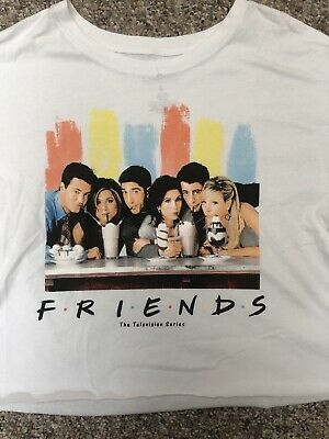 4333cb108 FRIENDS TV SHOW Cast T-Shirt Milkshake Photo Size L Cropped - $10.80 ...