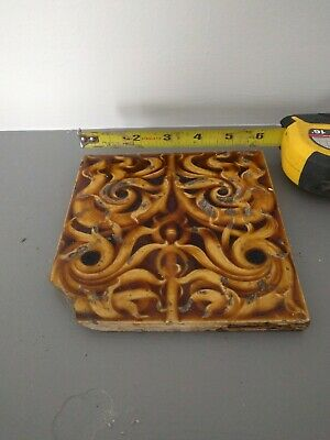 Beaver Falls Art Tile vintage antique 6x6 square tile, spiral pattern