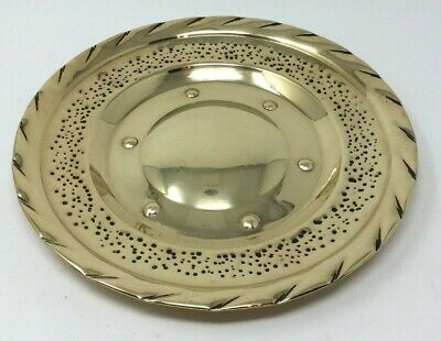 Vintage Arts & Crafts Style Solid Brass Plate 30 Cms Diameter