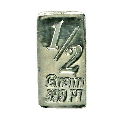 1/30 Gram .999 Fine Platinum Bullion Bar - in Assay Card