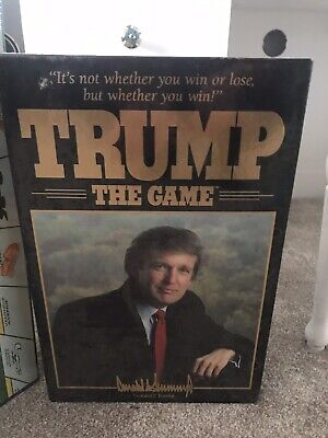Vintage 1989 Donald Trump The Game Milton Bradley