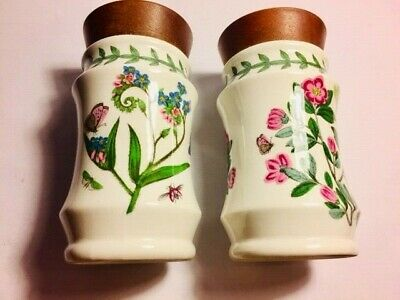 "Two Vintage Portmeirion Botanic Garden 4"" Spice Storage Jars- Immaculate"