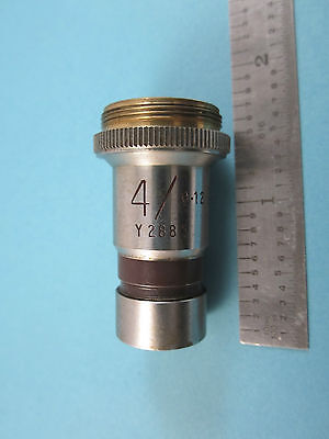 Vickers Angleterre UK Microscope Objective 4 X Optiques Pièce