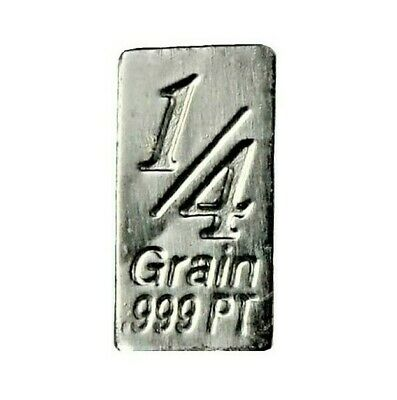 1/60 Gram .999 Fine Platinum Bullion Bar - in Assay Card