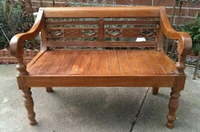 Antique Solid Wooden Carved Child's Bench 75 cms Wide DELIVERY POSSIBLE
