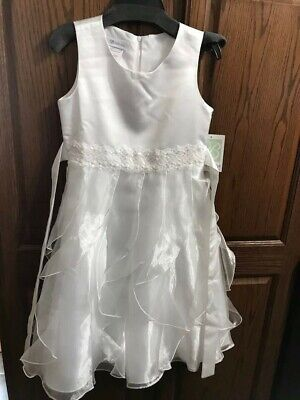 efc8b74bcd4 US ANGELS FLOWER Girl Special Occasion Petal Dress Style 909 White ...