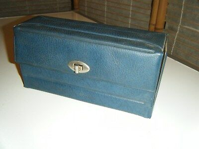 Vintage retro 60s or 70s cassette tape storage case holds 13 tapes
