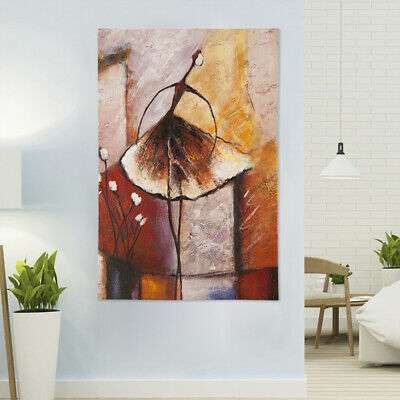 Modern Abstract Oil Painting Canvas Hand Painted Art Wall Decor Framed 56x86cm