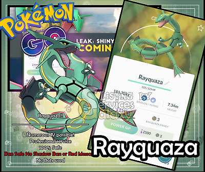 Pokemon Go Rayquaza 100% Guaranteed Capture! Buy 3 get 1 free!