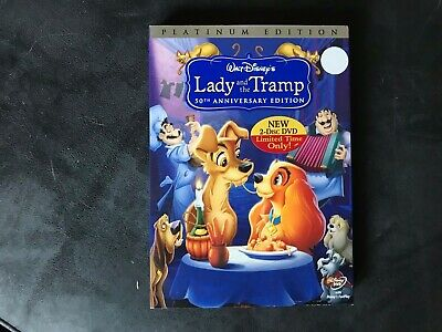 Disney:Lady and the Tramp 50th Anniv. Platinum Edition DVD w/Slipcover LIKE NEW