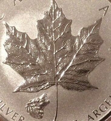 2016 Wolf Privy Mark Maple Leaf 1 oz Pure .9999 Silver Canada. New Series