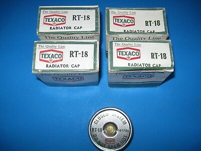Vintage Classic Radiator Caps RT-18 New Original Stock Original Texaco Box 4 PCS