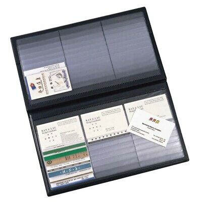 Comix Office BLACK / BROWN BUSINESS NAME CARD HOLDER BOOK (holds 180 cards)