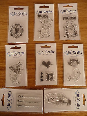 In Craftz Clear Stamps - 8 Designs to Choose from