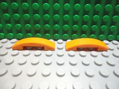 Lego 2 Dark Orange 2x2 Curved Smooth Slopes brick block NEW