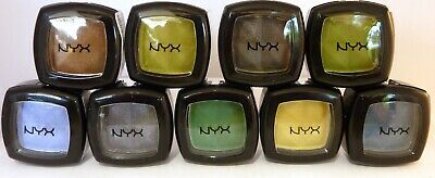 NYX  eyeshadow pots x 9 blue green gold navy good range new