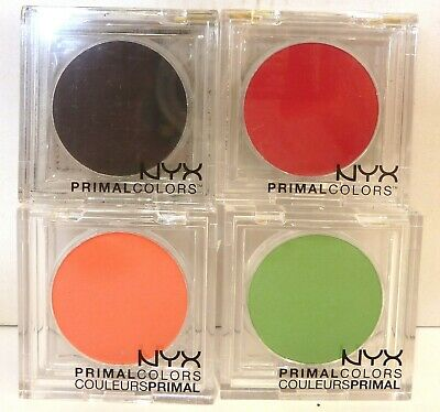 NYX  Primal colors x 4 red black orange green Theatre makeup new