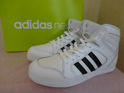 ADIDAS WOMENS NEO Raleigh Mid Sneakers Size 7.5 Or 9 White Black New ... b4a38f544
