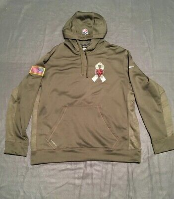 premium selection 2c5a6 3b2cc CHICAGO BEARS NIKE THERMA FIT SALUTE TO SERVICE XL HOODIE Sweatshirt, NFL  Army