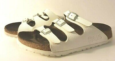 d7069e2534eb Birkenstock Florida 3 Strap Ladies Sandals White Leather US 7 EU 38-Gently  Worn!