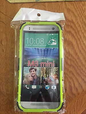 HTC  Green Armor Dual Color M 8 One/Mini With Stand Case