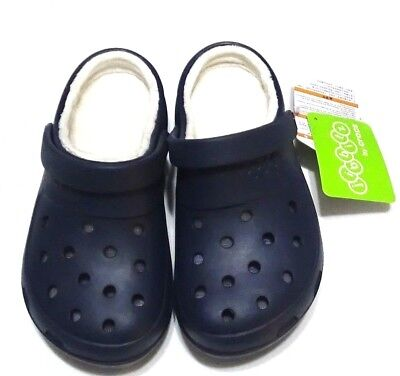 43dba41a9 CROCS jibbitz Mens Womens Clogs Shoes Roomy Fit Presley Lined Navy Blue M 8  W 10