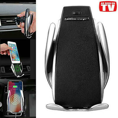 Automatic Clamping Wireless Car Charging Charger Mount Air Vent Phone Holder AU