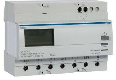Hager KILOWATT-HOUR METER HAGEC360 230V 50-60Hz 20-100A 3Phase Direct Connection