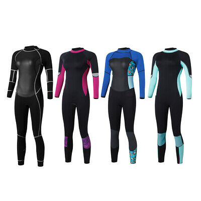 Women 1.5mm Neoprene Long Sleeve Back Zipper Full Body Dive Surfing Wetsuit