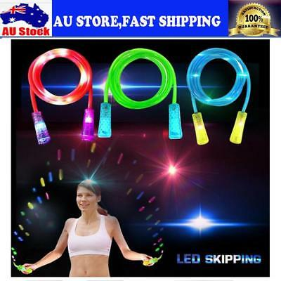 Adult Kid Light Up LED Jump Rope Skipping Rope For Exercise Fitness Training