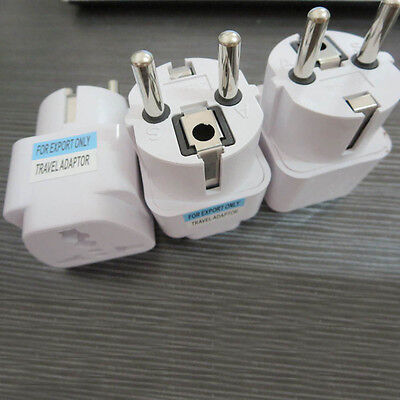 US UK AU To EU Europe Travel Home Charger Power Adapter Converter Wall Plug ZH