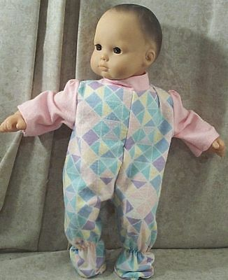 """Doll Clothes Baby Made 2 Fit American Girl 15"""" inch Bitty Pajamas Pink Triangles"""