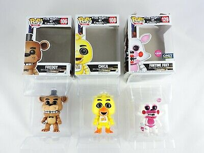 LOT of 3 Five Nights at Freddy's FUNKO POP! Games DAMAGED Funtime Foxy CHICA pop